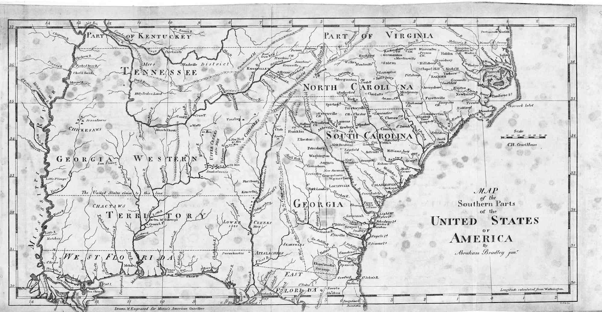 Welcome Page - Map of southern georgia