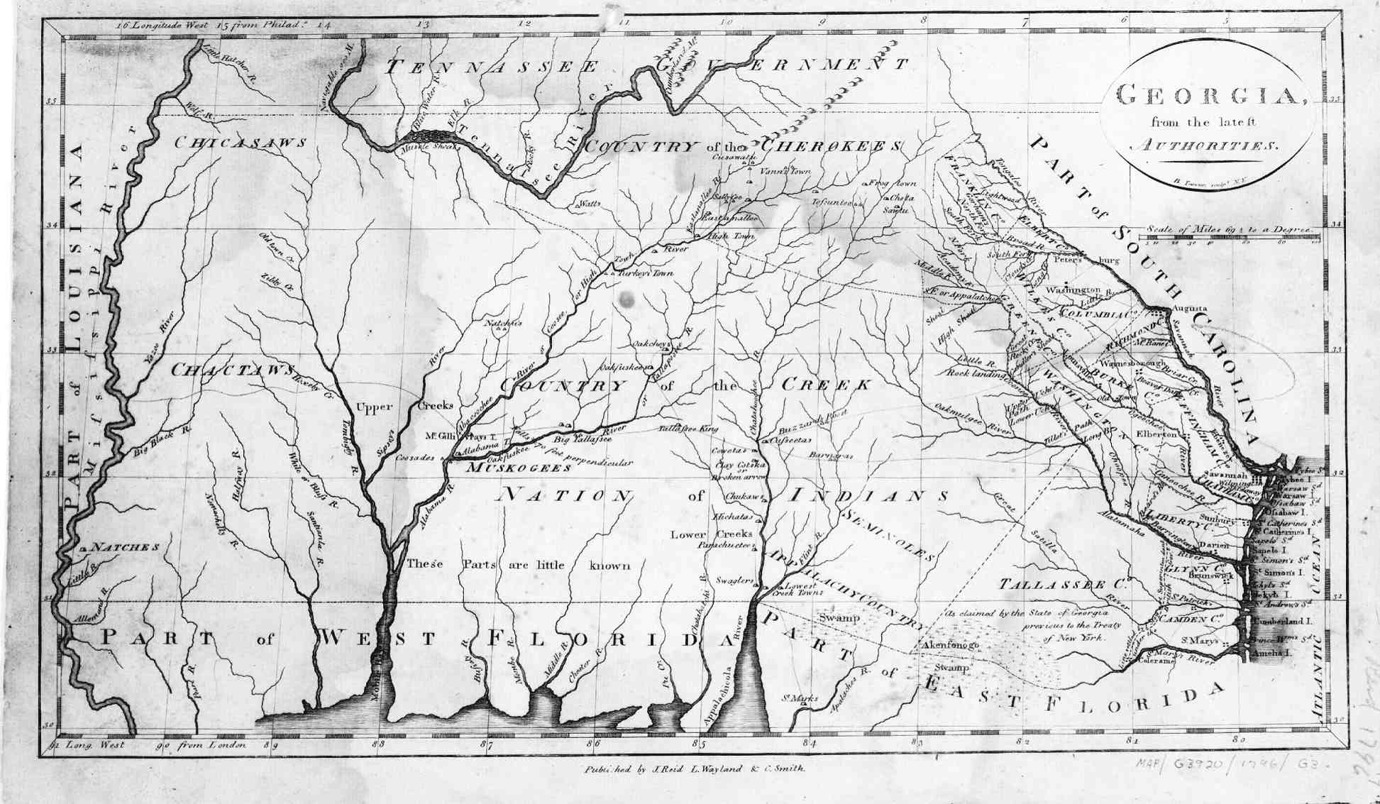 Map Of Georgia 1830.Welcome Page