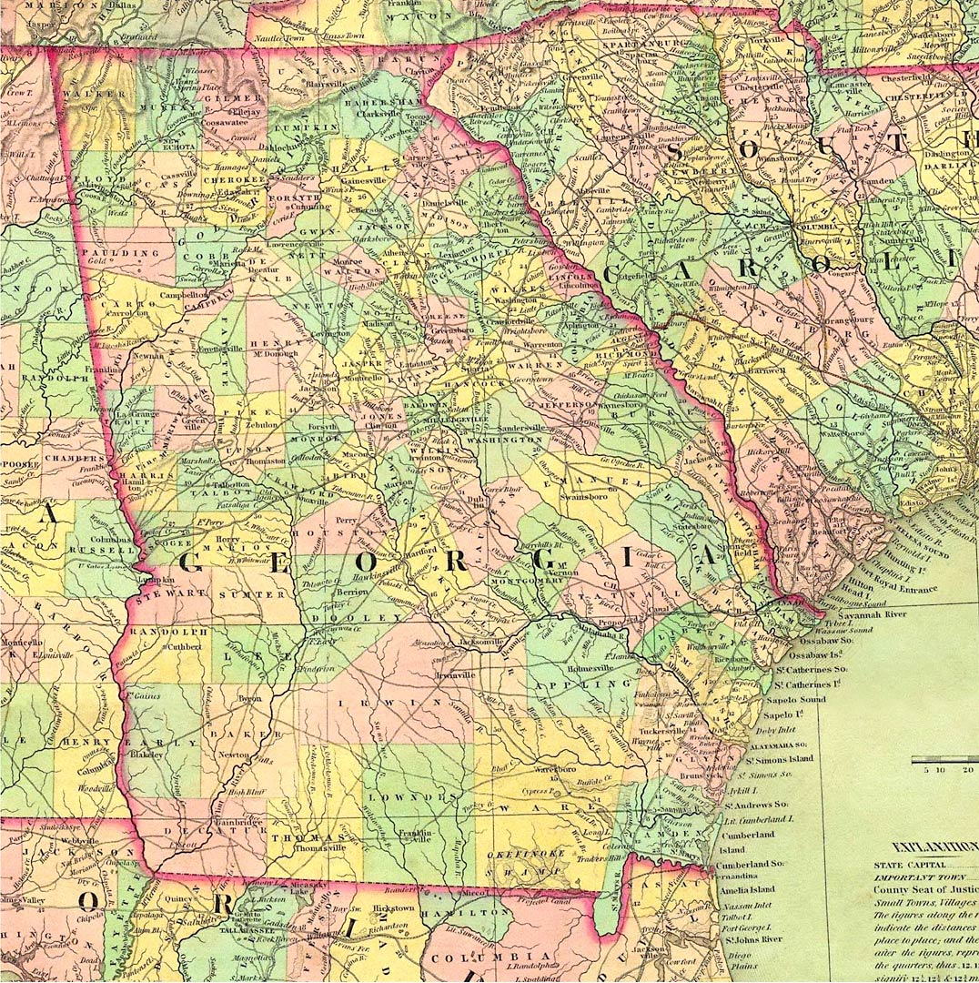 Map Of The Counties Of Georgia.Welcome Page